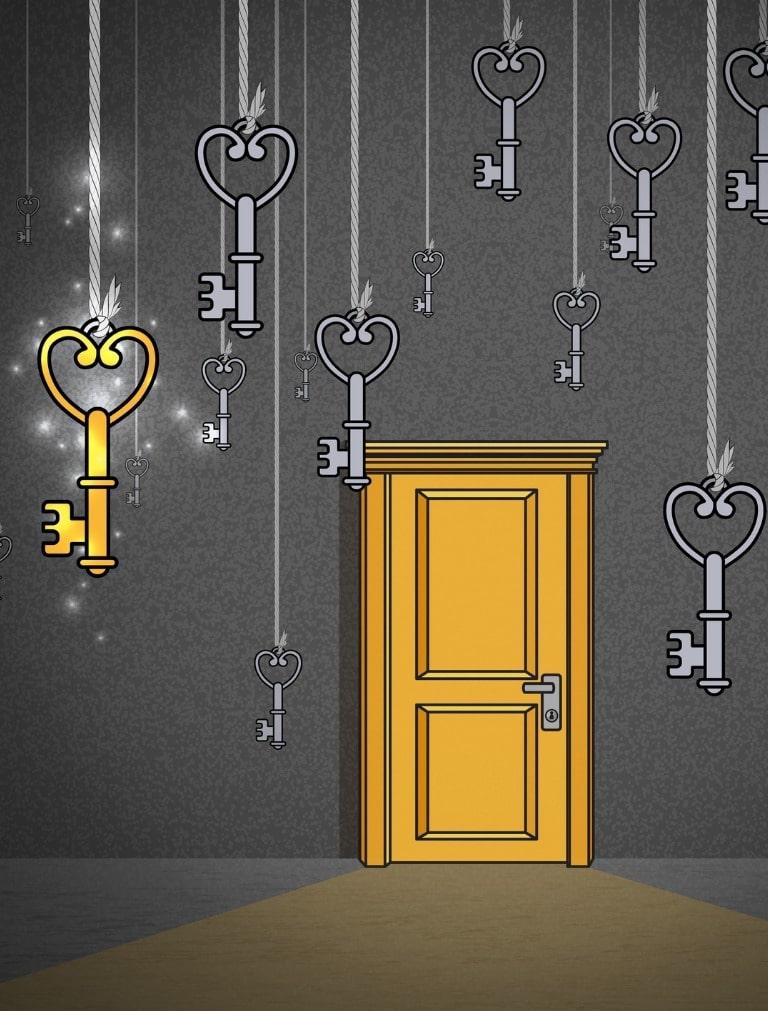 Tante chiavi appese e una sola porta